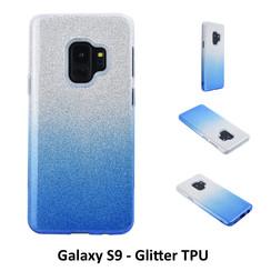 Kleurovergang Blauw Glitter TPU Achterkant voor Samsung Galaxy S9  -Zacht en duurzaam - TPU