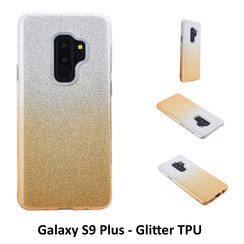 Gradient Gold Glitter Silikonhülle for Galaxy S9 Plus Soft and durable