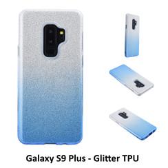Dégradé Bleu Glitter Silikonhülle pour Galaxy S9 Plus Doux et durable