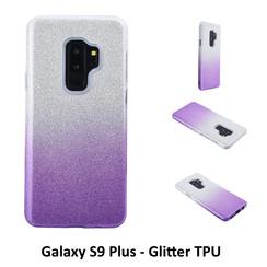 Dégradé Violet Glitter Silikonhülle pour Galaxy S9 Plus Doux et durable