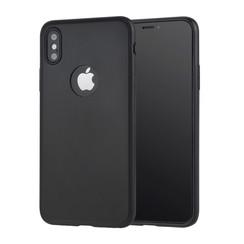 Binnenstructuur Zwart TPU Backcover voor Apple iPhone X;iPhone Xs -Zacht en duurzaam - TPU