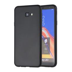 Binnenstructuur Zwart TPU Backcover voor Samsung Galaxy J4 Plus -Zacht en duurzaam - TPU