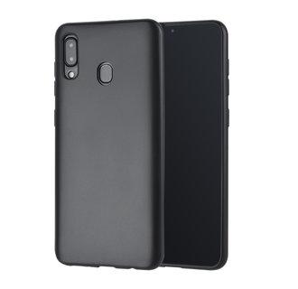 Binnenstructuur Zwart TPU Backcover voor Samsung Galaxy A30 -Zacht en duurzaam - TPU