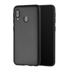 Binnenstructuur Zwart TPU Backcover voor Samsung Galaxy A20e -Zacht en duurzaam - TPU