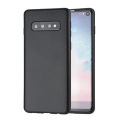 Binnenstructuur Zwart TPU Backcover voor Samsung Galaxy S10 -Zacht en duurzaam - TPU