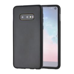 Binnenstructuur Zwart TPU Backcover voor Samsung Galaxy S10e -Zacht en duurzaam - TPU