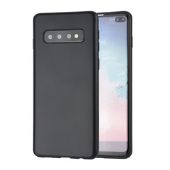 Zwart TPU Backcover voor Samsung Galaxy S10 Plus -Zacht en duurzaam