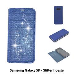 Samsung Galaxy S8 Titulaire de la carte Bleu Book type housse - Fermeture magnétique