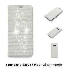 Samsung Galaxy S8+ Titulaire de la carte Argent Book type housse - Fermeture magnétique