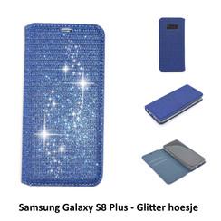 Samsung Galaxy S8+ Titulaire de la carte Bleu Book type housse - Fermeture magnétique