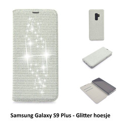Samsung Galaxy S9+ Titulaire de la carte Argent Book type housse - Fermeture magnétique