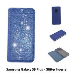 Samsung Galaxy S9+ Titulaire de la carte Bleu Book type housse - Fermeture magnétique