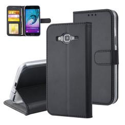 Samsung Galaxy J3 (2016) Titulaire de la carte Noir Book type housse - Fermeture magnétique