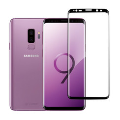 Samsung Galaxy S9 Plus Soft Touch Zwart Screenprotector - Schermbescherming - Tempered Glas
