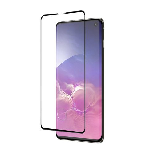 Andere merken Samsung Galaxy S10 Soft Touch Zwart Screenprotector - Schermbescherming - Tempered Glas