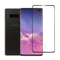 Samsung Galaxy S10+ Soft Touch Zwart Screenprotector - Schermbescherming - Tempered Glas