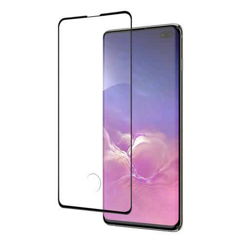 Andere merken Samsung Galaxy S10+ Soft Touch Zwart Screenprotector - Schermbescherming - Tempered Glas