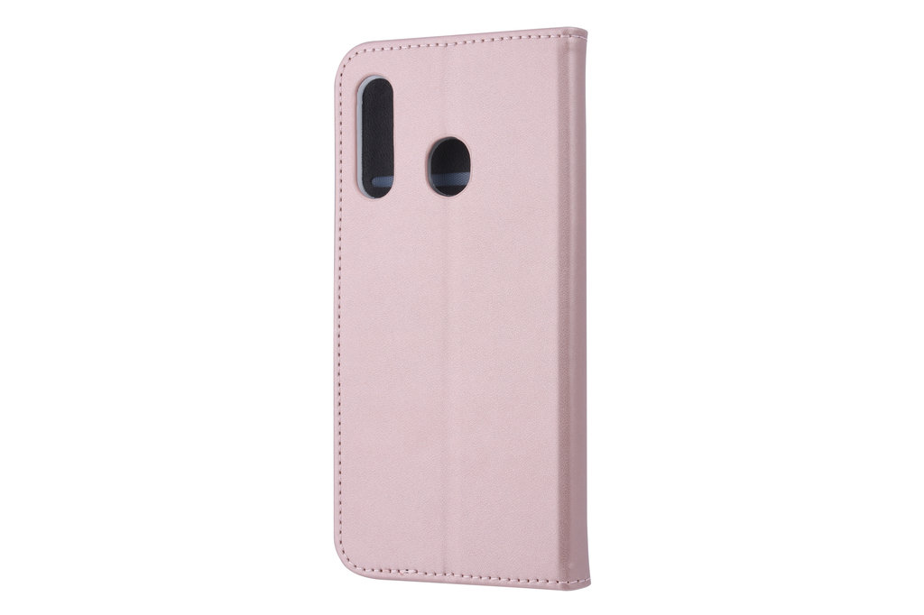 Samsung Galaxy M40 Card holder Rose Gold Book type case for Galaxy M40 Magnetic closure