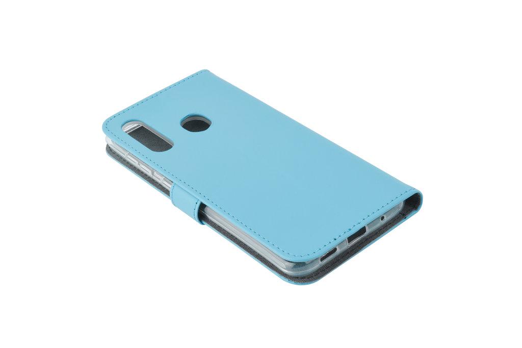 Samsung Galaxy M40 Pasjeshouder L Blauw Booktype hoesje - Magneetsluiting - Kunstleer; TPU