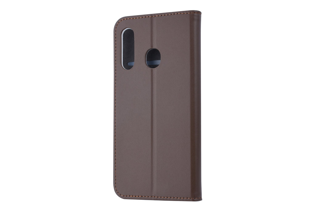Samsung Galaxy M40 Card holder Brown Book type case for Galaxy M40 Magnetic closure