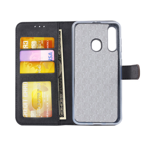 Andere merken Samsung Galaxy M40 Card holder Brown Book type case for Galaxy M40 Magnetic closure