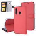 Andere merken Samsung Galaxy M40 Pasjeshouder Rood Booktype hoesje - Magneetsluiting - Kunstleer; TPU