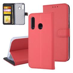 Samsung Galaxy M40 Titulaire de la carte Rouge Book type housse - Fermeture magnétique