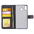 Andere merken Samsung Galaxy A6s Pasjeshouder Hot Pink Booktype hoesje - Magneetsluiting - Kunstleer; TPU