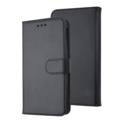 Universeel 5 inch Pasjeshouder Kunstleer Booktype hoesje - Magneetsluiting - Zwart
