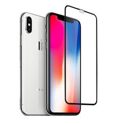 Apple iPhone Xs Max Soft Touch Schwarz Display Schutzglas -Bildschirmschutz - Tempered Glas