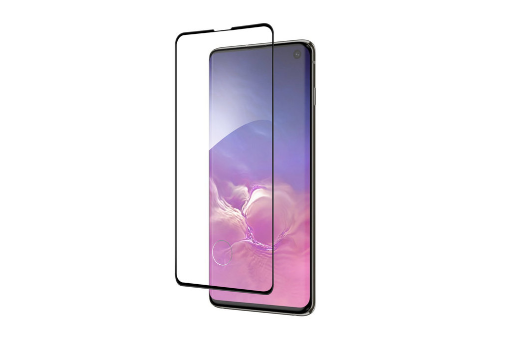 Samsung Galaxy S10 Soft Touch Zwart Screenprotector - Schermbescherming - Tempered Glas