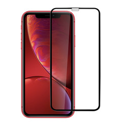 Apple iPhone XR Soft Touch Schwarz Display Schutzglas -Bildschirmschutz - Tempered Glas