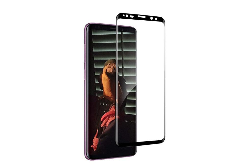 Samsung Galaxy S9 Plus Soft Touch Zwart Screenprotector - Schermbescherming - Tempered Glas
