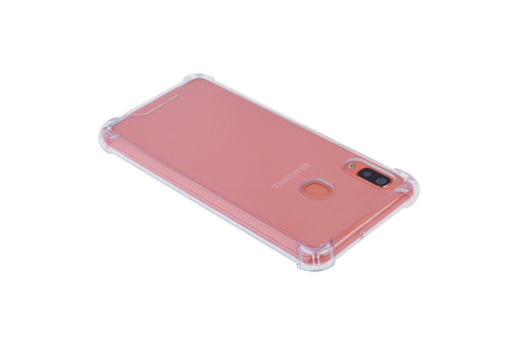Samsung Galaxy A20 Shockproof Transparent Back cover case for Galaxy A20 Screen protection