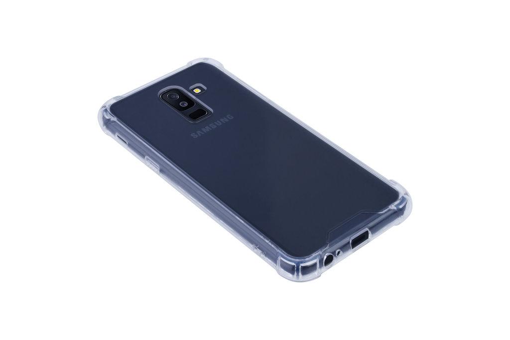 Samsung Galaxy A6 Plus (2018) Shockproof Transparant Backcover hoesje - Schermbescherming - TPU