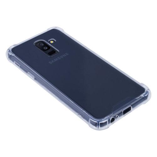 Andere merken Samsung Galaxy A6 Plus (2018) Shockproof Transparant Backcover hoesje - Schermbescherming - TPU