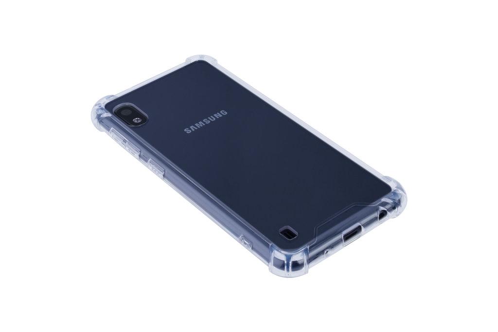Samsung Galaxy A10 Shockproof Transparant Backcover hoesje - Schermbescherming - TPU