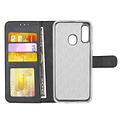 Andere merken Samsung Galaxy A20e Pasjeshouder Rood Booktype hoesje - Magneetsluiting - Kunstleer; TPU