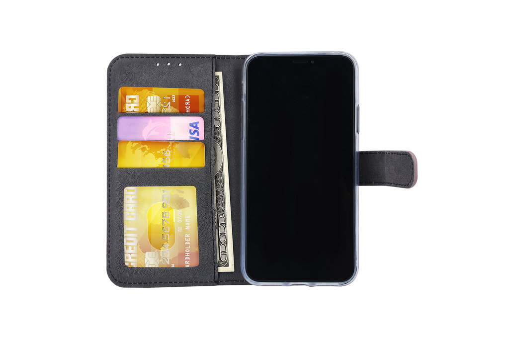 Apple iPhone X/Xs Pasjeshouder Rose Gold Booktype hoesje - Magneetsluiting - Kunstleer; TPU