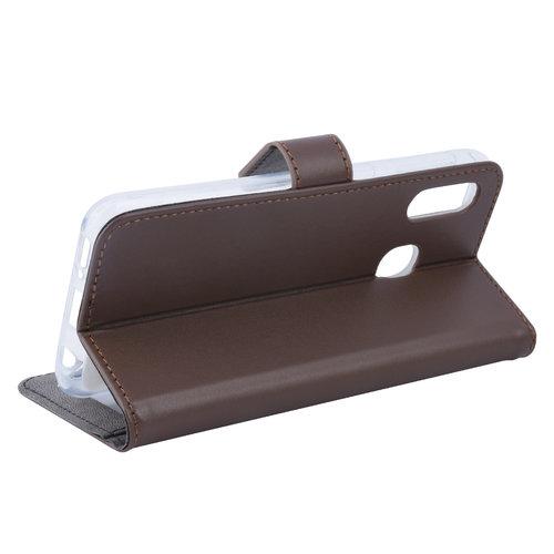 Andere merken Samsung Galaxy A20e Pasjeshouder Bruin Booktype hoesje - Magneetsluiting - Kunstleer; TPU