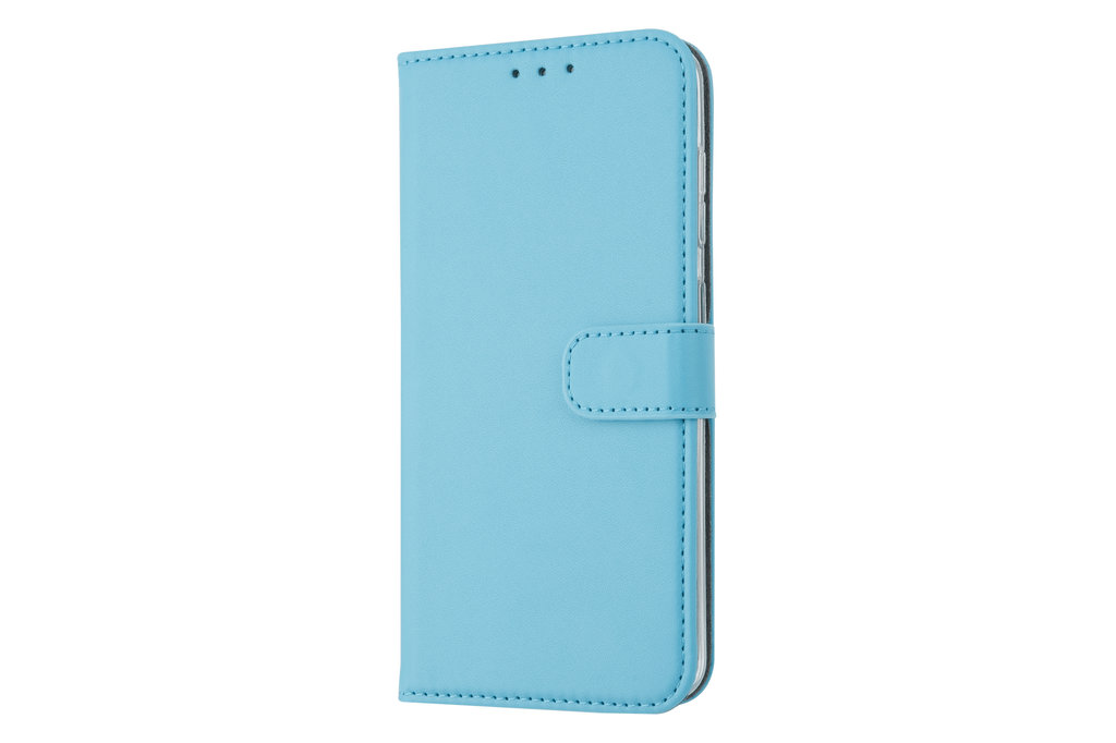 Samsung Galaxy M40 Card holder L blue Book type case for Galaxy M40 Magnetic closure