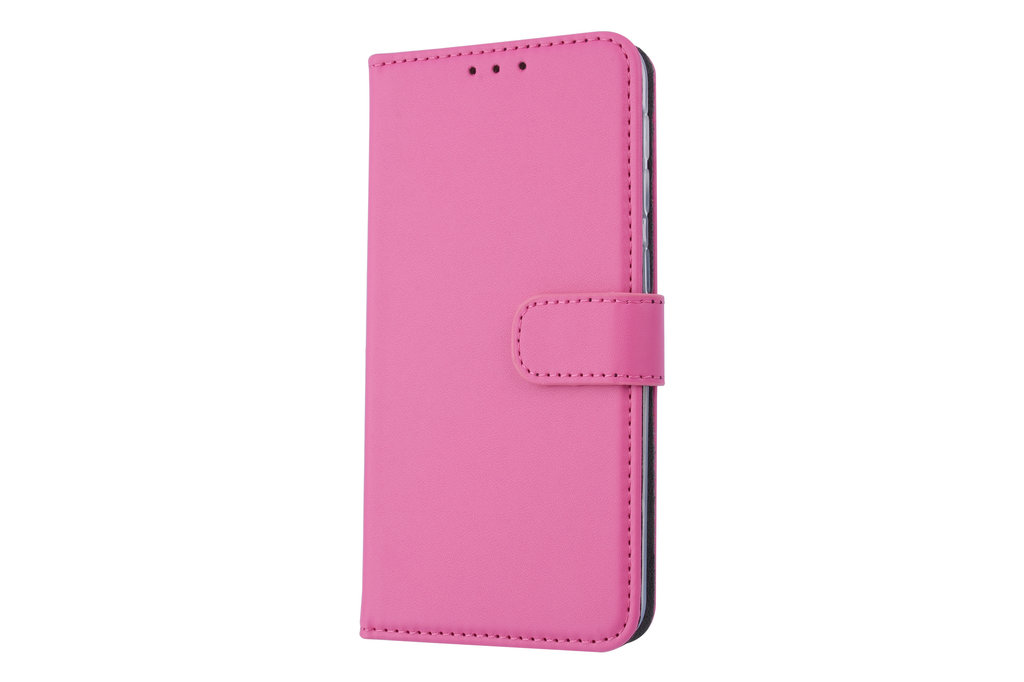 Samsung Galaxy A20e Card holder Hot Pink Book type case for Galaxy A20e Magnetic closure