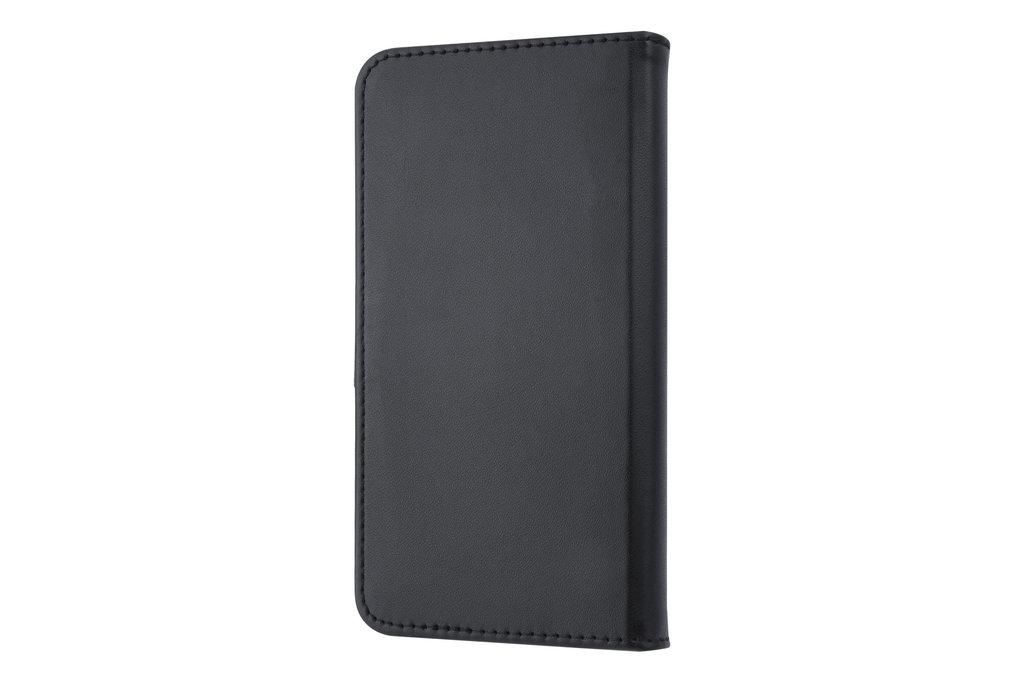 Universeel 5 inch Pasjeshouder Zwart Booktype hoesje - Magneetsluiting - Kunstleer; TPU