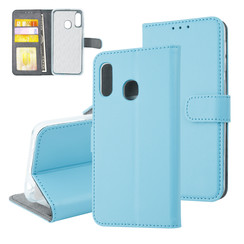 Samsung Galaxy A20e Card holder L blue Book type case for Galaxy A20e Magnetic closure