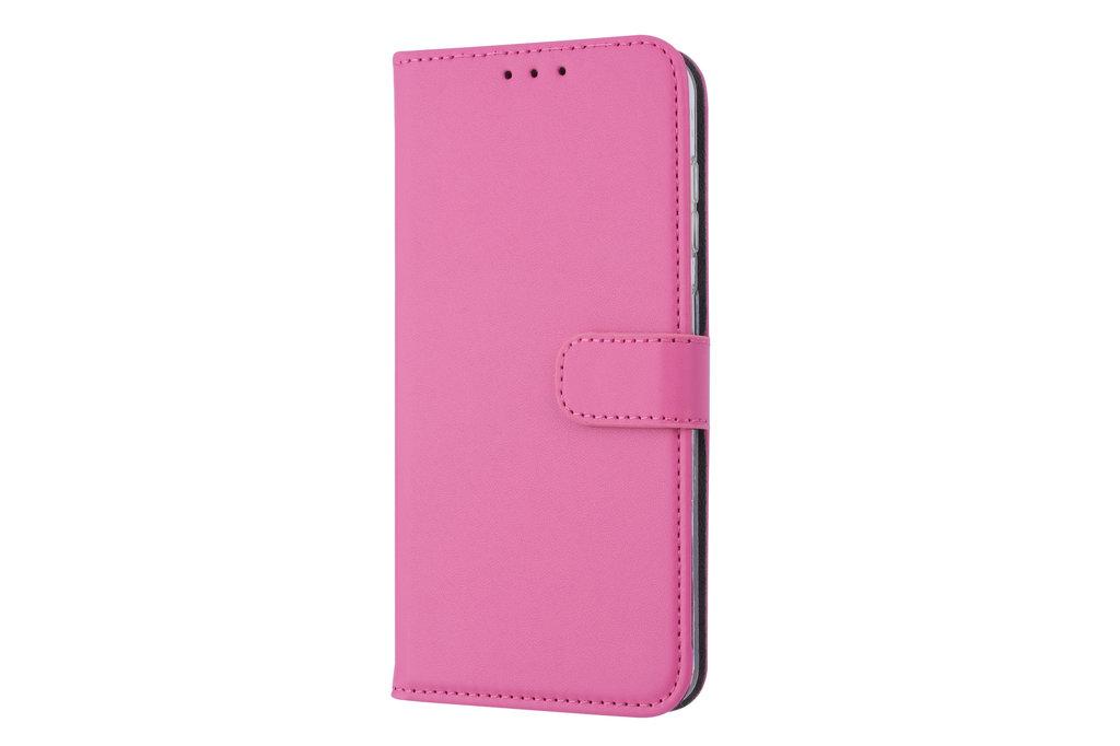 Andere merken Samsung Galaxy A60 Pasjeshouder Hot Pink Booktype hoesje - Magneetsluiting - Kunstleer; TPU