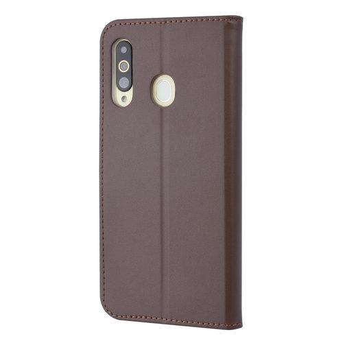 Andere merken Samsung Galaxy A60 Pasjeshouder Bruin Booktype hoesje - Magneetsluiting - Kunstleer; TPU