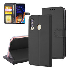 Samsung Galaxy A60 Card holder Black Book type case for Galaxy A60 Magnetic closure