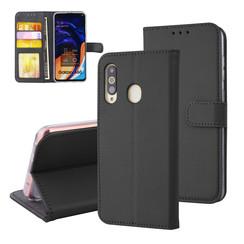 Samsung Galaxy A60 Pasjeshouder Zwart Booktype hoesje - Magneetsluiting - Kunstleer; TPU