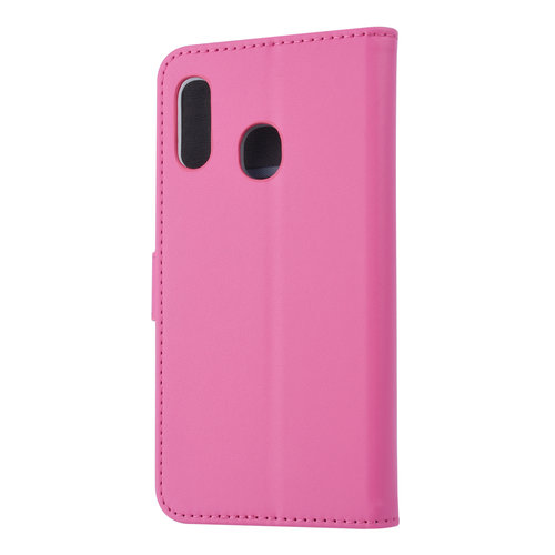 Andere merken Samsung Galaxy A20e Card holder Hot Pink Book type case for Galaxy A20e Magnetic closure