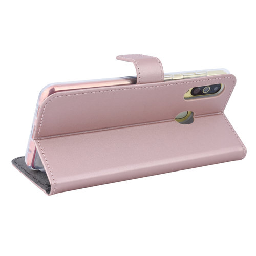 Andere merken Samsung Galaxy A60 Card holder Rose Gold Book type case for Galaxy A60 Magnetic closure